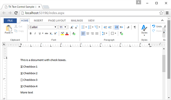 HTML5: Display and handle FormCheckBox fields