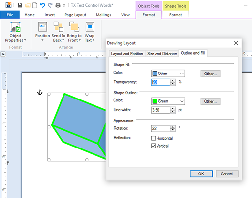 Sneak peek X13: MS Word compatible drawings and shapes