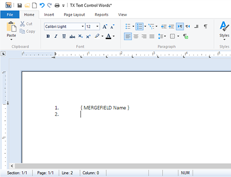 Reporting: Merge blocks rendered as numbered lists