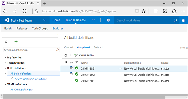 Using TX Text Control .NET with Visual Studio Team Services (VSTS)
