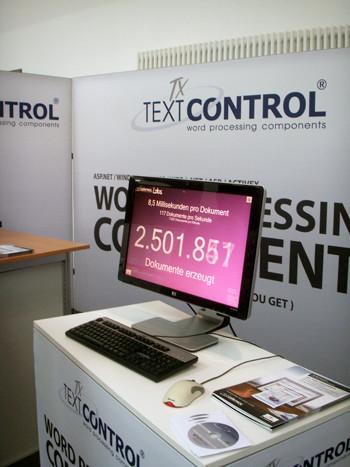 TX Text Control booth at Basta! 2009
