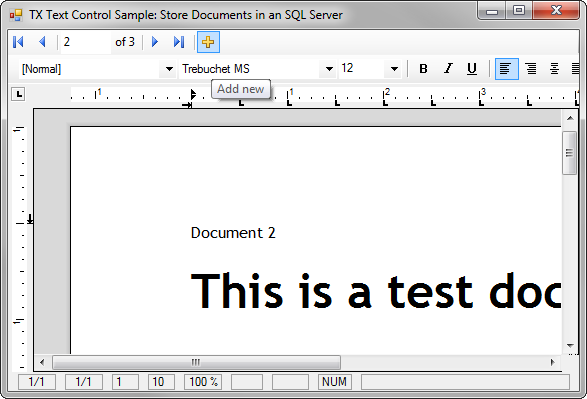 TX Text Control with MS SQL Server