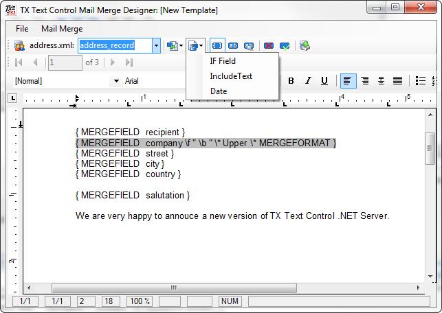 Mail Merge Designer