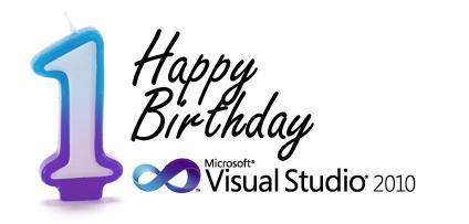 Happy Birthday Visual Studio 2010