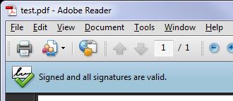 Digital Signature in Adobe Acrobat
