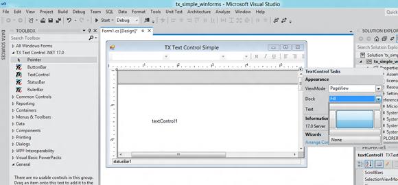 Visual Studio 11 and TX Text Control