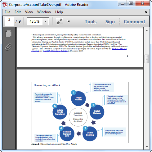 Original PDF opened in Acrobat Reader