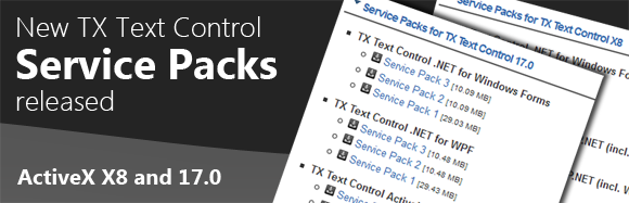 Service Pack for TX Text Control
