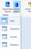 Open data table