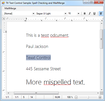 Spell checking, MailMerge and UserDictionaries