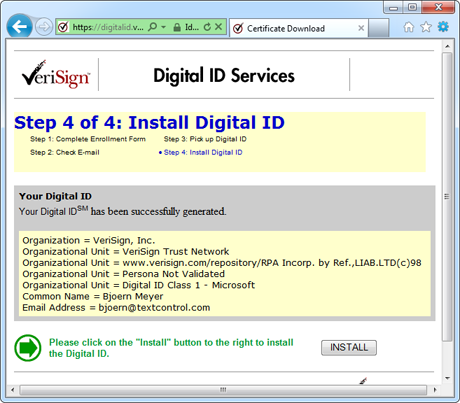 Get your Digital ID for Secure E-Mail