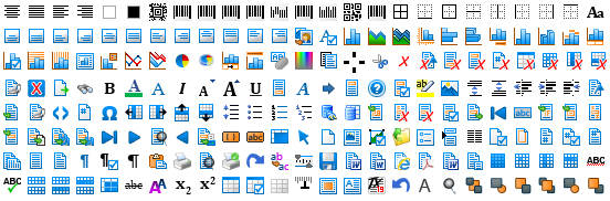 Icon sets for TX Text Control X9