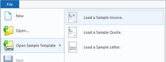 Open sample template
