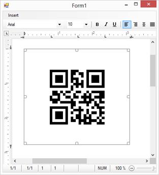 TX Barcode .NET in TX Text Control