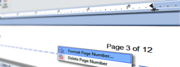 Page number fields