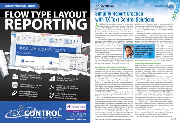 SD Times .NET Component Supplement