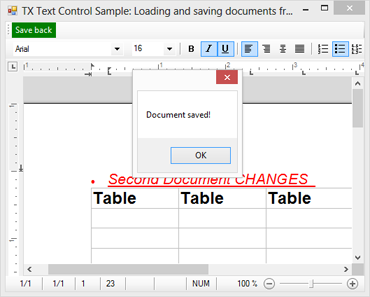 Load and save documents from a server