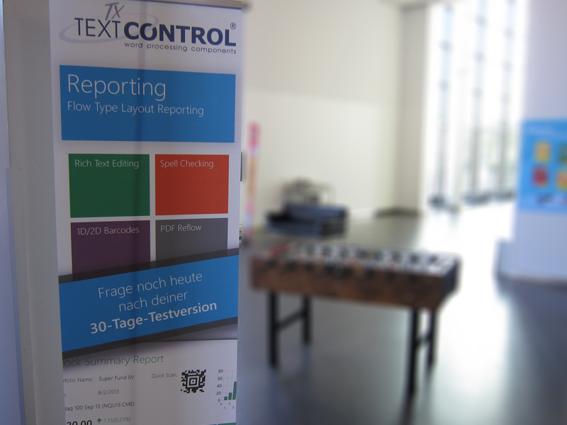 First day at BASTA! 2013: Text Control goes Reporting!