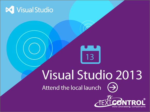 Text Control is Visual Studio 2013 Launch Partner
