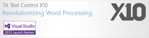 TX Text Control X10 - revolutionizing word processing