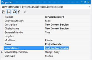 Windows Services in Visual Studio