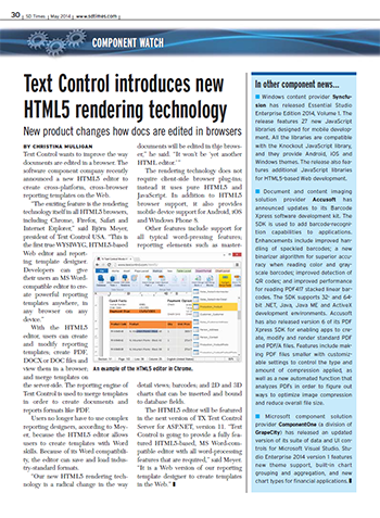 HTML5: Press coverage in SD Times