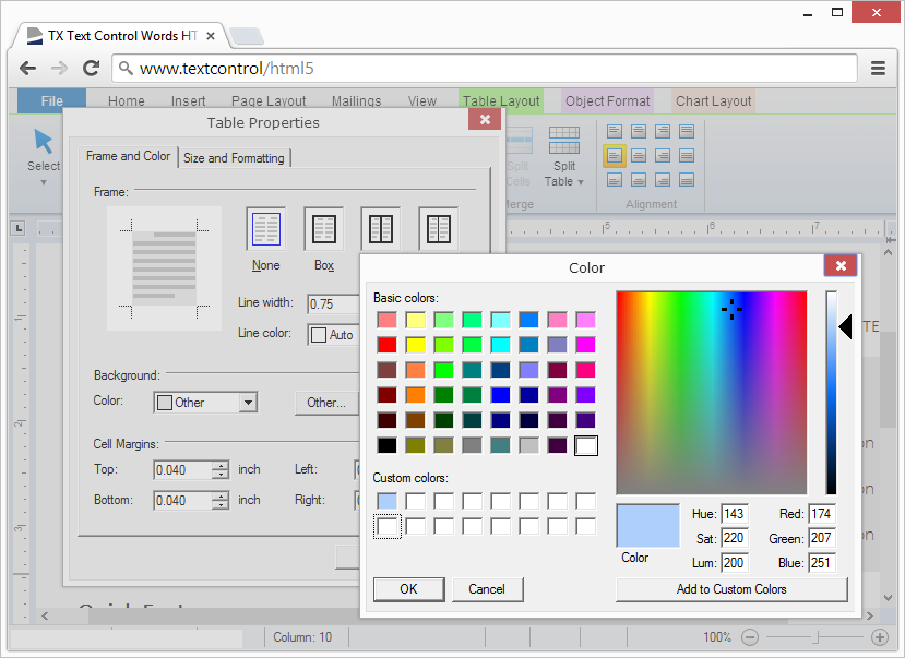 Preview screenshots: Full set of out-of-the-box dialog boxes