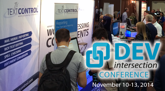 Text Control sponsors DevIntersection 2014 in Las Vegas, NV