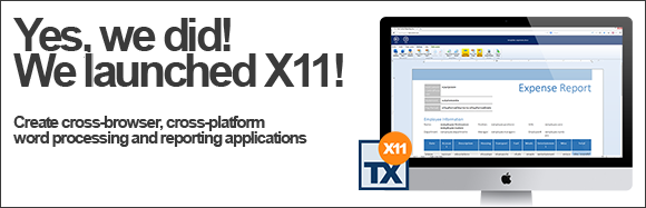 TX Text Control X11 released: Cross-browser template editing