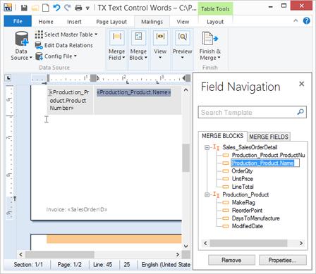 Sneak Peek: Field Navigation Panel in TX Text Control Words