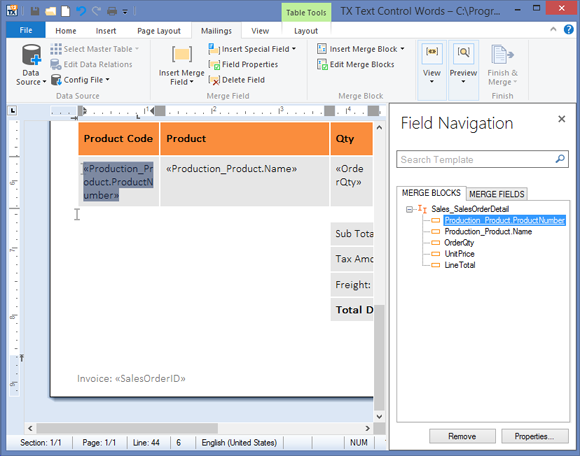 TX Text Control .NET for Windows Forms