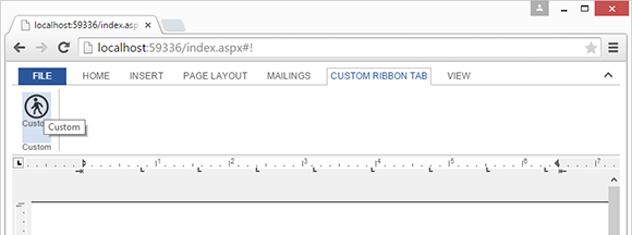 TextControl.Web: Adding custom ribbon tabs