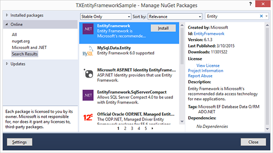 MailMerge with the Entity Framework (EF) using Database First