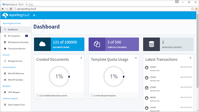 ReportingCloud Dashboard