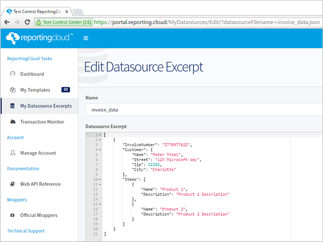 New template management features in ReportingCloud portal