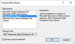 DatabaseConnectionDialog