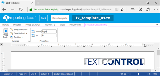 TX Text Control X14 Service Pack 1 deployed to ReportingCloud Portal and API