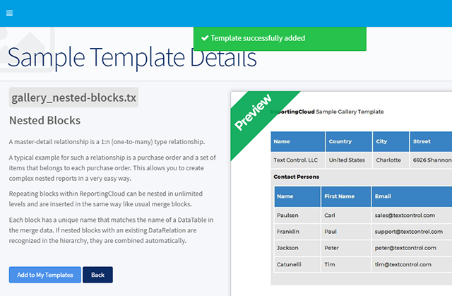 ReportingCloud: Sample template gallery launched