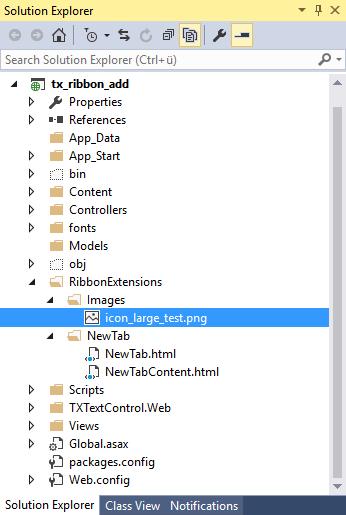 Creating folders in Solution Explorer
