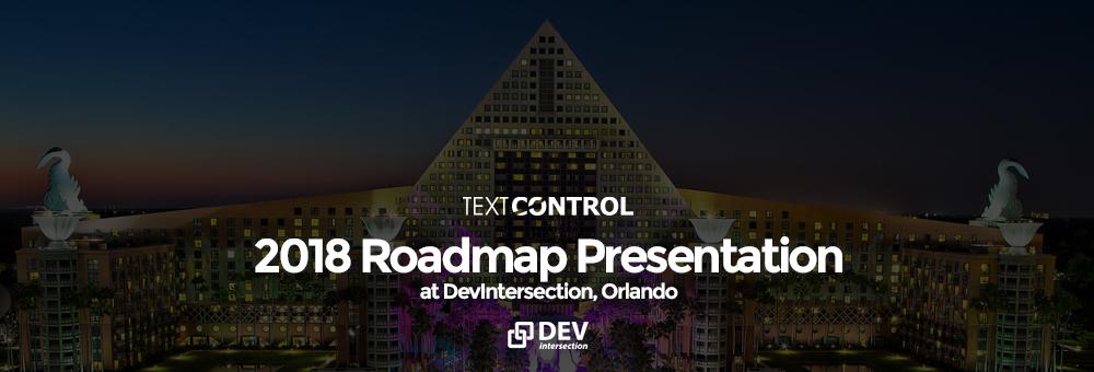 TX Text Control Roadmap 2018