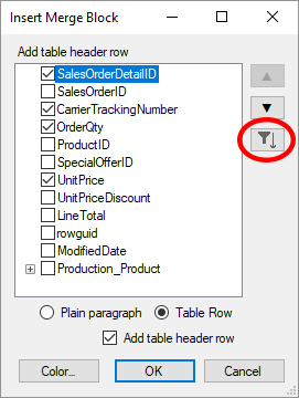 Data Shaping in TX Text Control X16