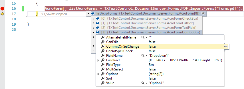 AcroForms in TX Text Control