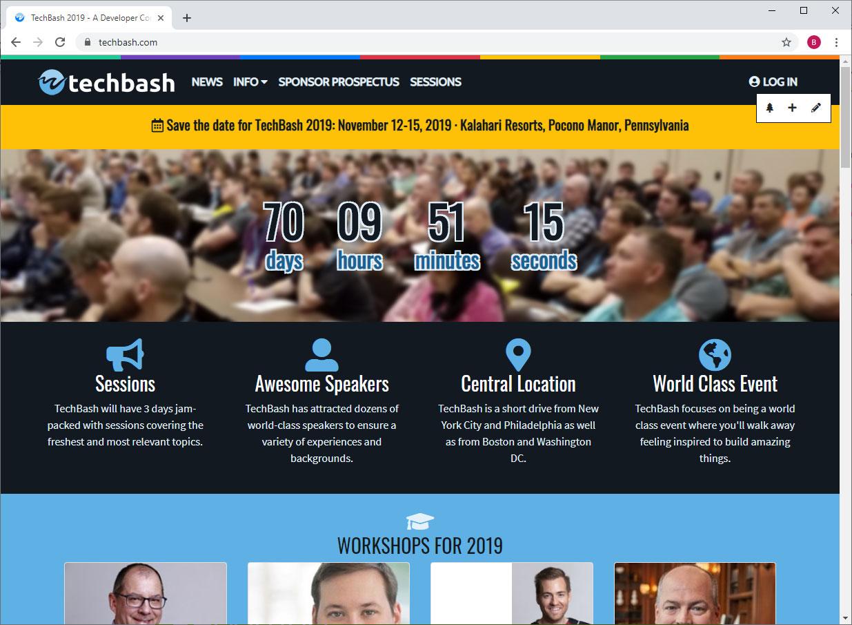 TechBash website