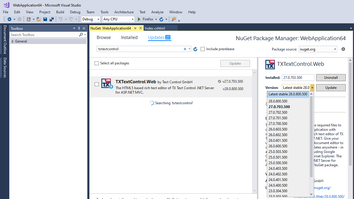 TX Text Control NuGet Packages