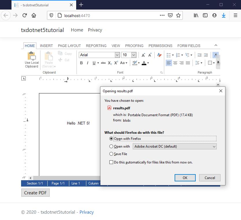 Create a .NET Core 5 application