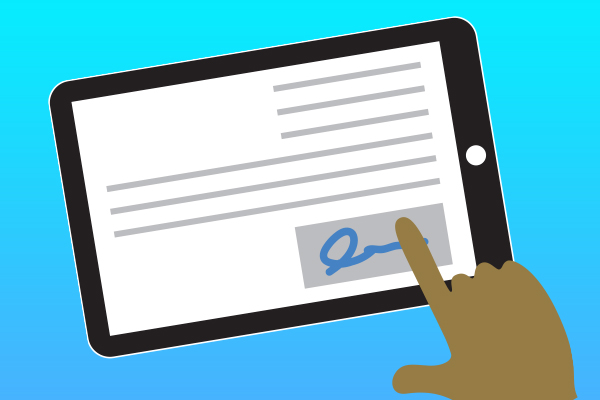 Going Contactless with Electronic Wet Signatures