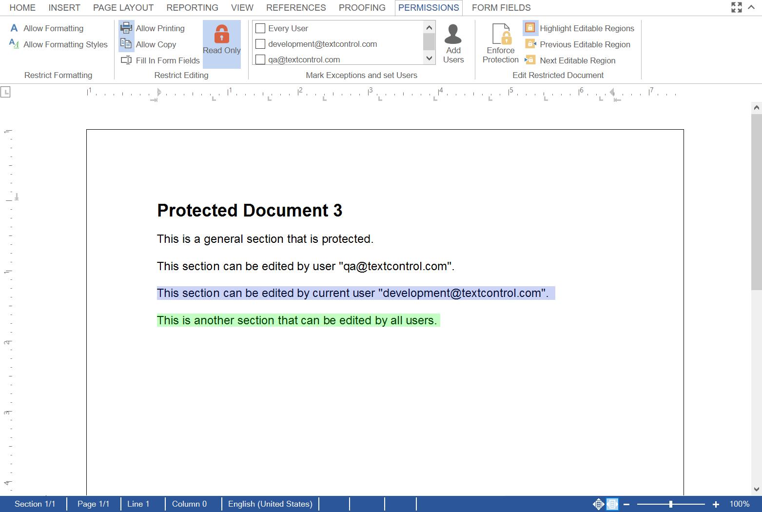 Document Permissions