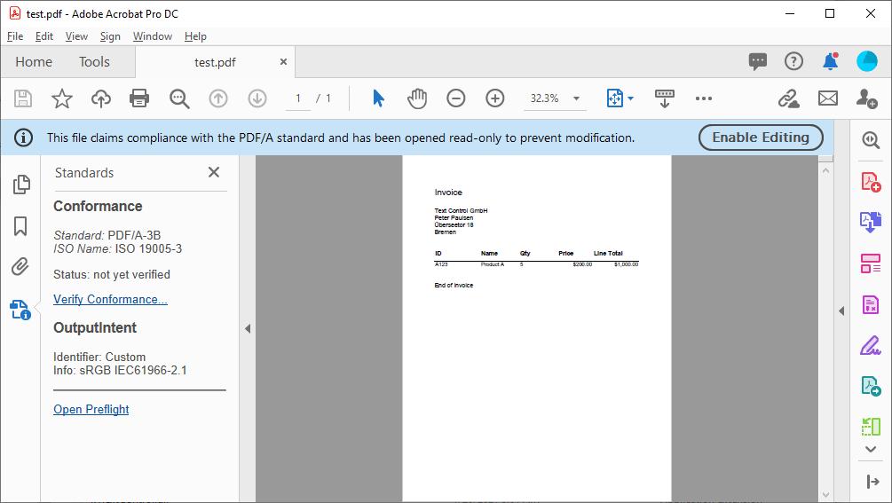 Creating Zugferd Compliant Pdf Invoices In C