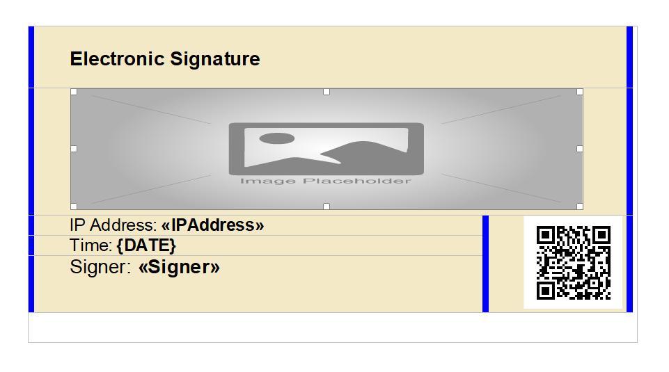 Custom signature box