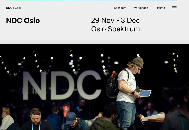 NDC Oslo website